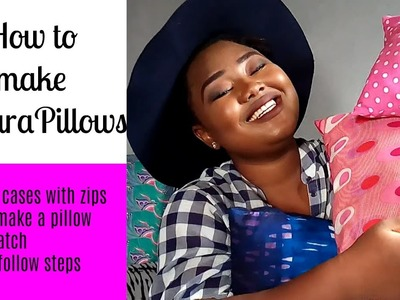HOW TO SEW PILLOWS FOR BEGINNERS | D.I.Y Ankara Pillows