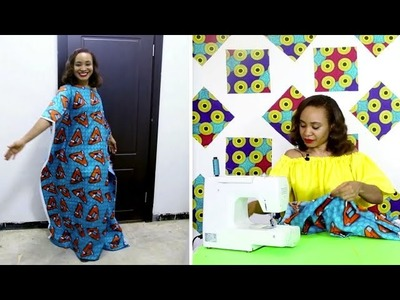 How to Sew the Perfect Kaftan in minutes! (DETAILED STEPS)