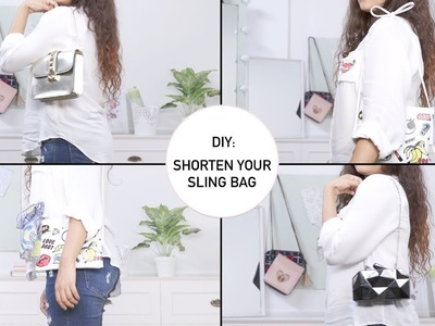 How To Shorten a Sling Bag To Purse | DIY Handbag Hacks & Tricks