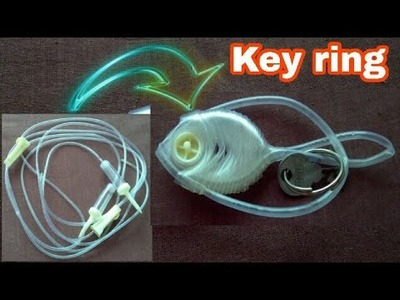 Key ring | How to make key ring at home | recycle plastic pipe | recycle waste material | HMA##060