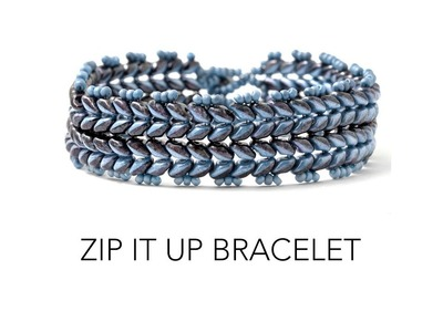 Learn how to make the Zip It Up Bracelet by Fusion Beads