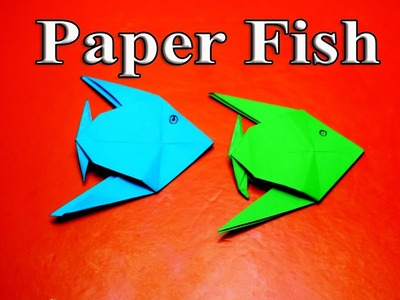 Learn Origami:Make an Paper fish Easy-how to make a origami fish