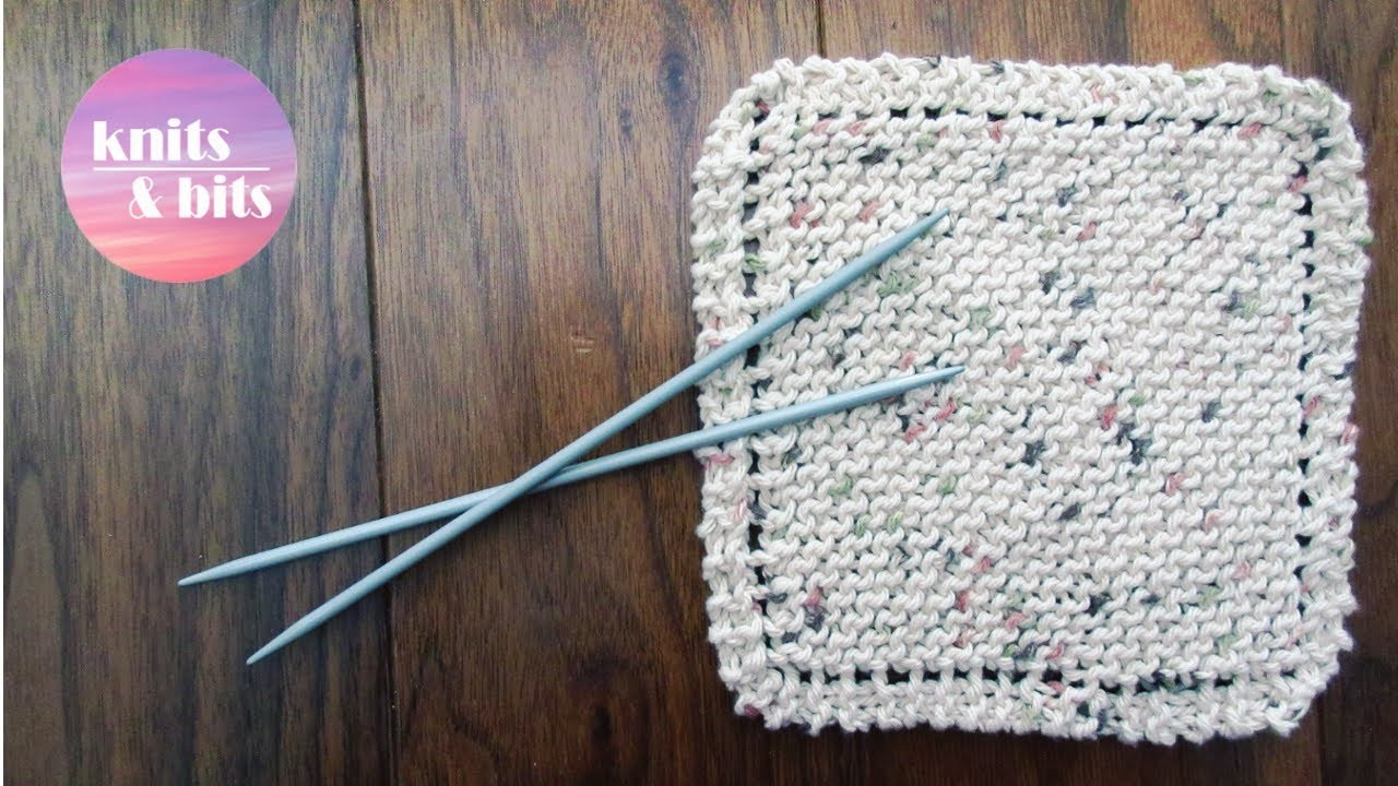 learn to knit simple dishcloth knitting for beginners. Black Bedroom Furniture Sets. Home Design Ideas