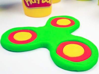 Make a Play-Doh Fidget Spinner! How to Make Fidget Spinner Toys for Kids Learn Colors