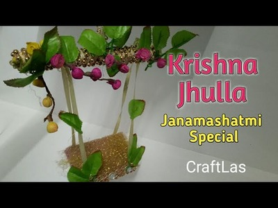 Make Jhula For Bal Gopal At Home With Waste Materials | How To | CraftLas