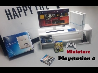 Miniature - How to Make and Unboxing Realistic Miniature Playstation 4 For DollHouse