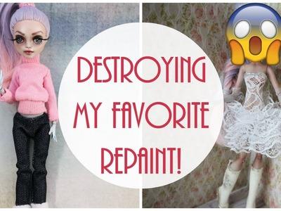 Monster High Doll Repaint. How to customize BJD Easy. OOAK Custom Barbie DIY Handmade Tutorial