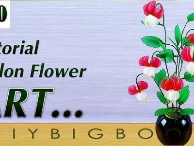 Nylon stocking flowers tutorial #30, How to make nylon stocking flower step by step
