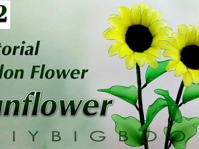 Nylon stocking flowers tutorial #22, How to make nylon stocking flower step by step