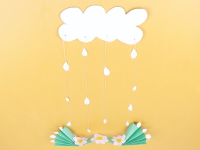 Origami Cloud, Rain And Flower  | How to Make Paper Cloud and Rain easy | Easy Origami  Tutorial