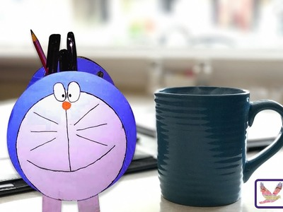 Pencil Desk Holder - How To Make Doraemon Pencil Holders Easy Paper Folding Ideas For Crafts.