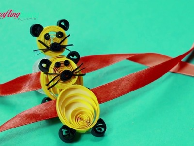 Rakhi Making Idea for Kids, How to Make Rakhi with Paper Quilling