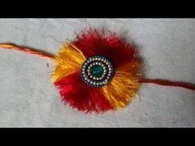 Rakhi making with silk thread. how to make rakhi