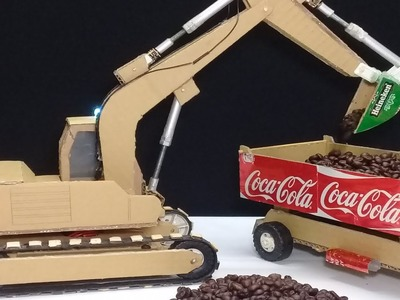 RC Excavator DIY - A Masterpiece from Cardboard! How to make a Excavator