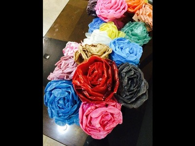 Recycled DIY: How to make Plastic Carrybag Flowers