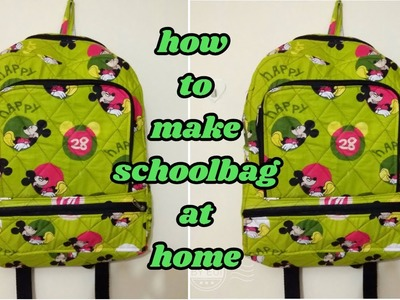 School bag make at home in Hindi.how to make school bag at home.magical hands.