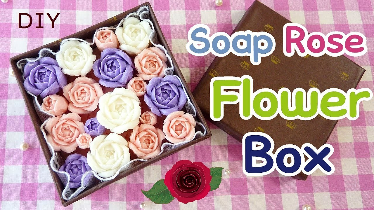 SOAP CARVING| How to make a Flower Box with carved soap roses | DIY | Real Sound |