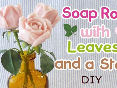 SOAP CARVING| How to make rose stem and leaves | DIY| Real Sound|