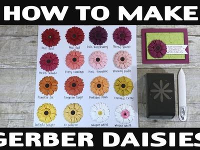 Stamping Jill - How to Make Gerber Daisies