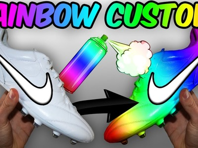 Unbelievable Rainbow Boots!! How To Customise Your Soccer Cleats!