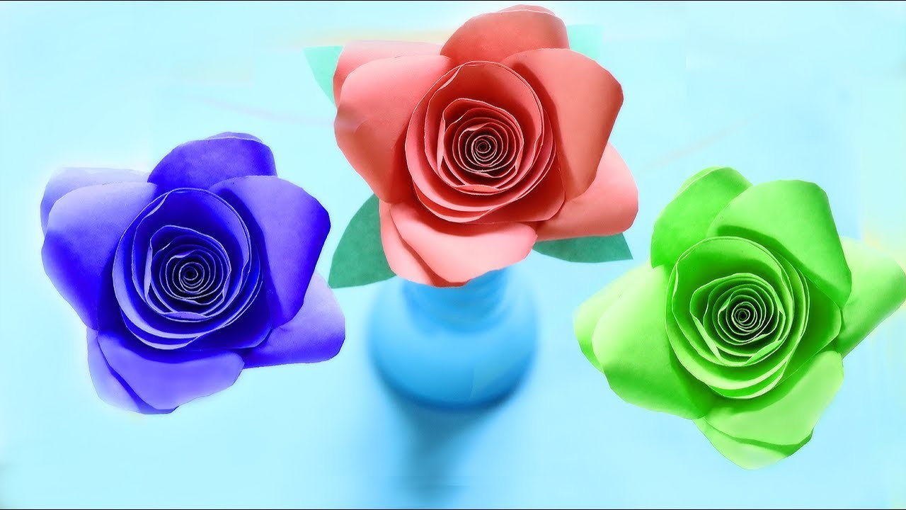 Very Easy and Simple to make Paper Rose.How to make a paper Rose?
