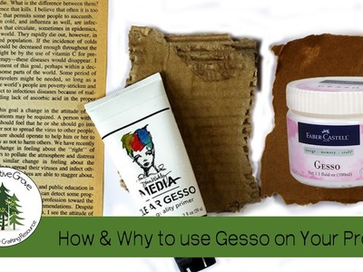 1 Minute Tool Tip: How and Why to use Gesso