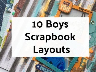 10 Boys Scrapbook Layout Ideas - Layout Share