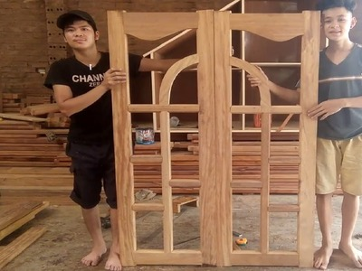Amazning Woodworking! How To Make a Double Window Frame Fastest Easily