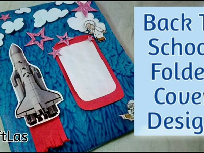 Back To School Folder Cover Design Idea | How To | CraftLas