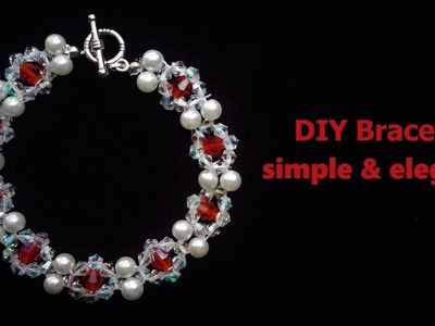 Beading tutorial for beginners. How to make a simple and elegant bracelet
