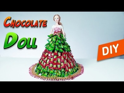 Chocolate Doll | How to make candy  dress | Best chocolate gift | Learn colour | shruti crafts