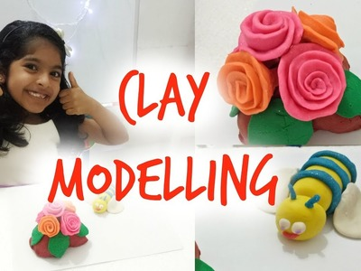 Clay Modeling for Kids | How to make a 3D rose using clay dough | Easy