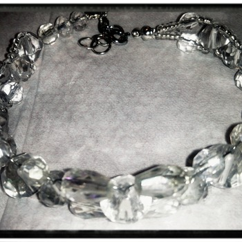 Clear glass bracelet