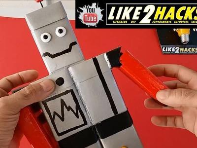 ???? COMO HACER ROBOT CON CAJAS DE CIGARRILLOS ???? HOW TO MAKE ROBOT WITH CIGARETTE BOXES | LIKE2HACKS