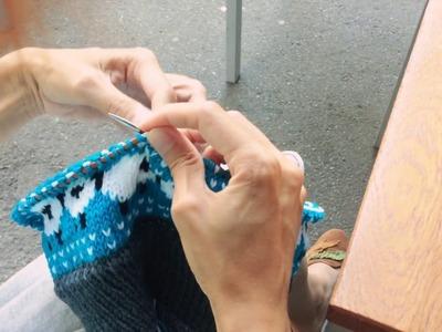 Continental fair isle knitting