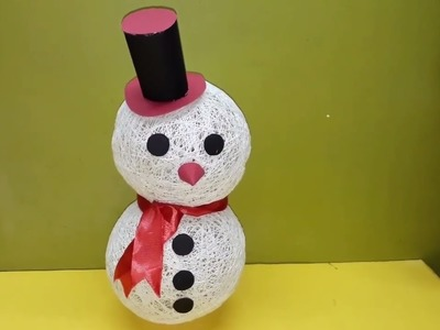 DIY Crafts: How to make String Snowman