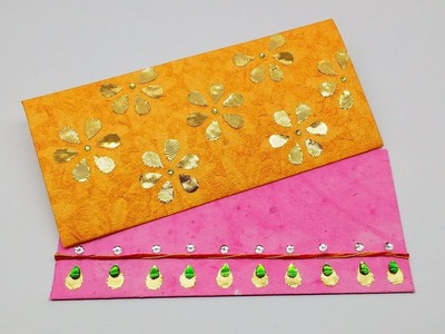 Diy How to make 2 Festive Envelope \ shagun Envelope