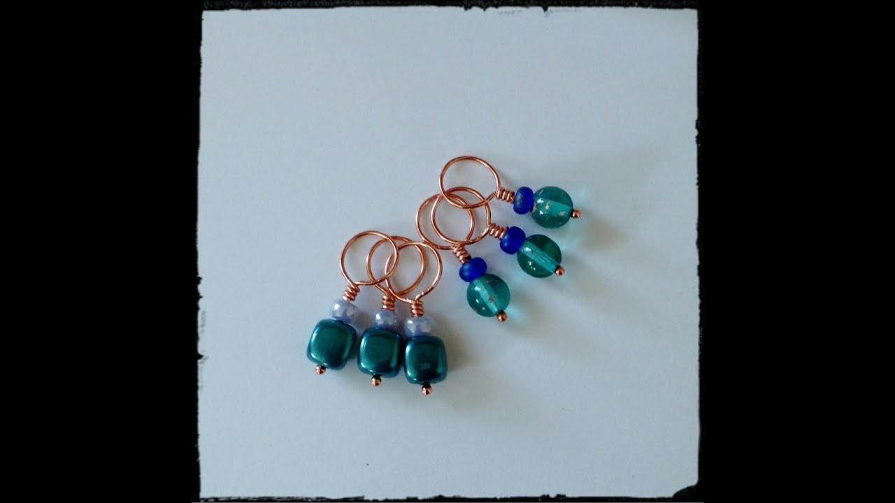 DIY How to make Knitting Stitch Markers - Snag Free