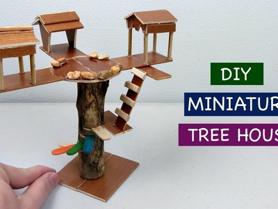 DIY Miniature Tree House #5   How to make a simple Fairy House