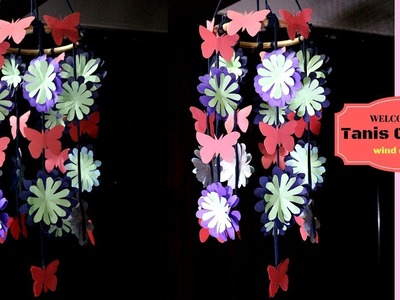 DIY Paper Wind Chime | How to make wind chime with colour paper | decoration idea for newbies
