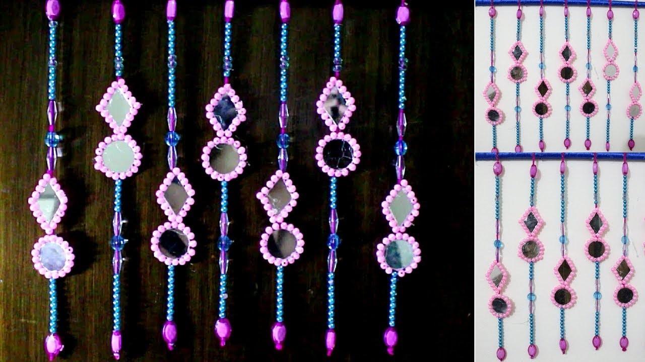 DIY Wall Decor Ideas   How To Make Door.Wall Hanging Decoration   How to make hanging door beads