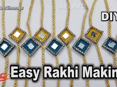Easy Last Minute Rakhi making for Raksha Bandhan | How to make Rakhi | JK Arts 1269