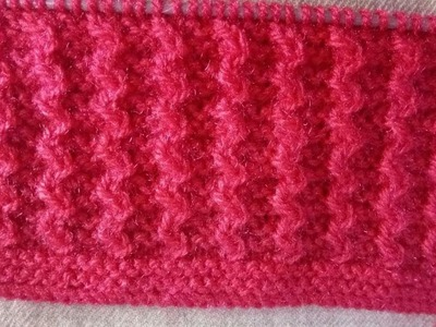 Easy Single Color Knitting Design No.59|HIndi