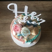 Gender Neutral cake topper | He or She?