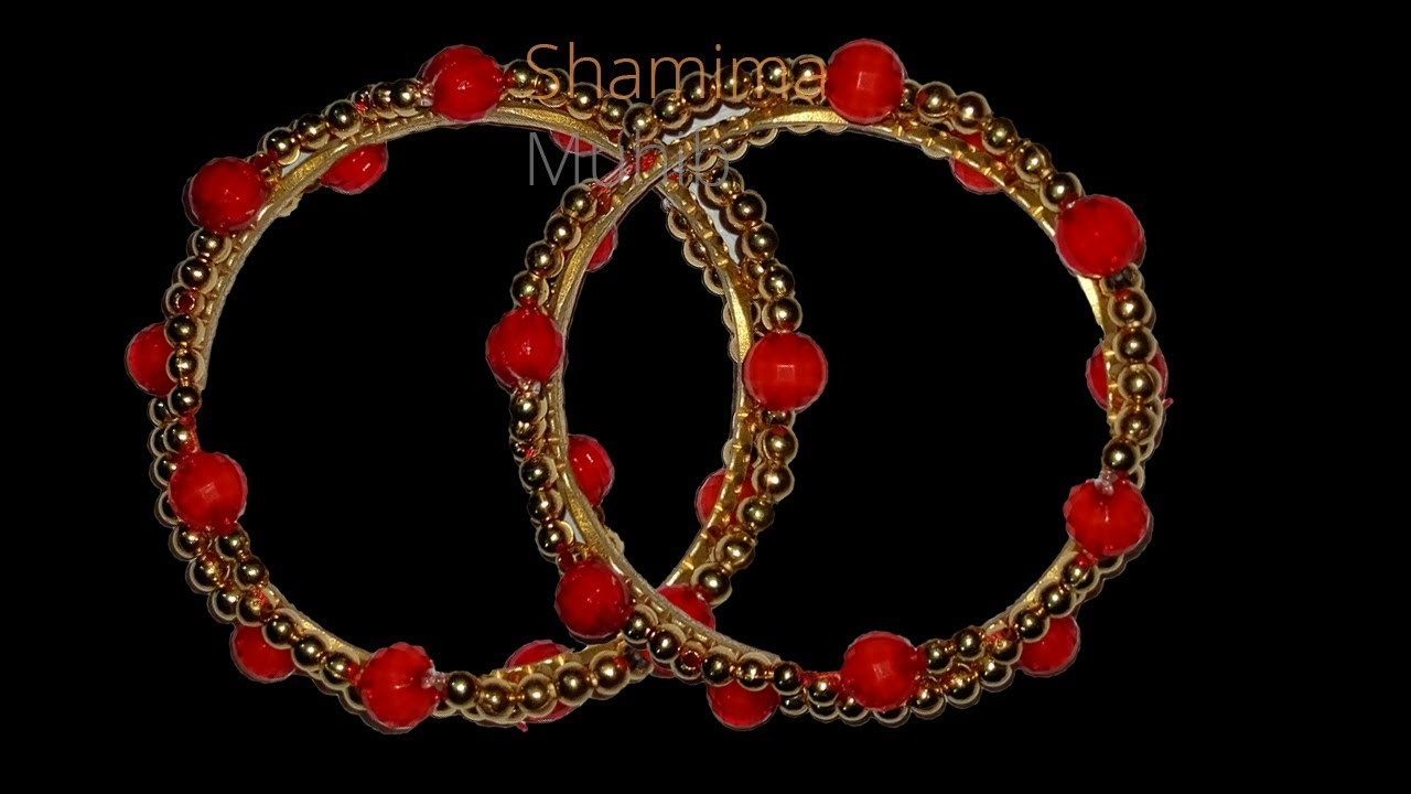 পুতির চুড়ি.How to make beaded bracelet.bangles decor