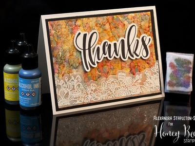How to: Alcohol Ink Agate Backgrounds and Stamping on Vellum cardmaking tutorial