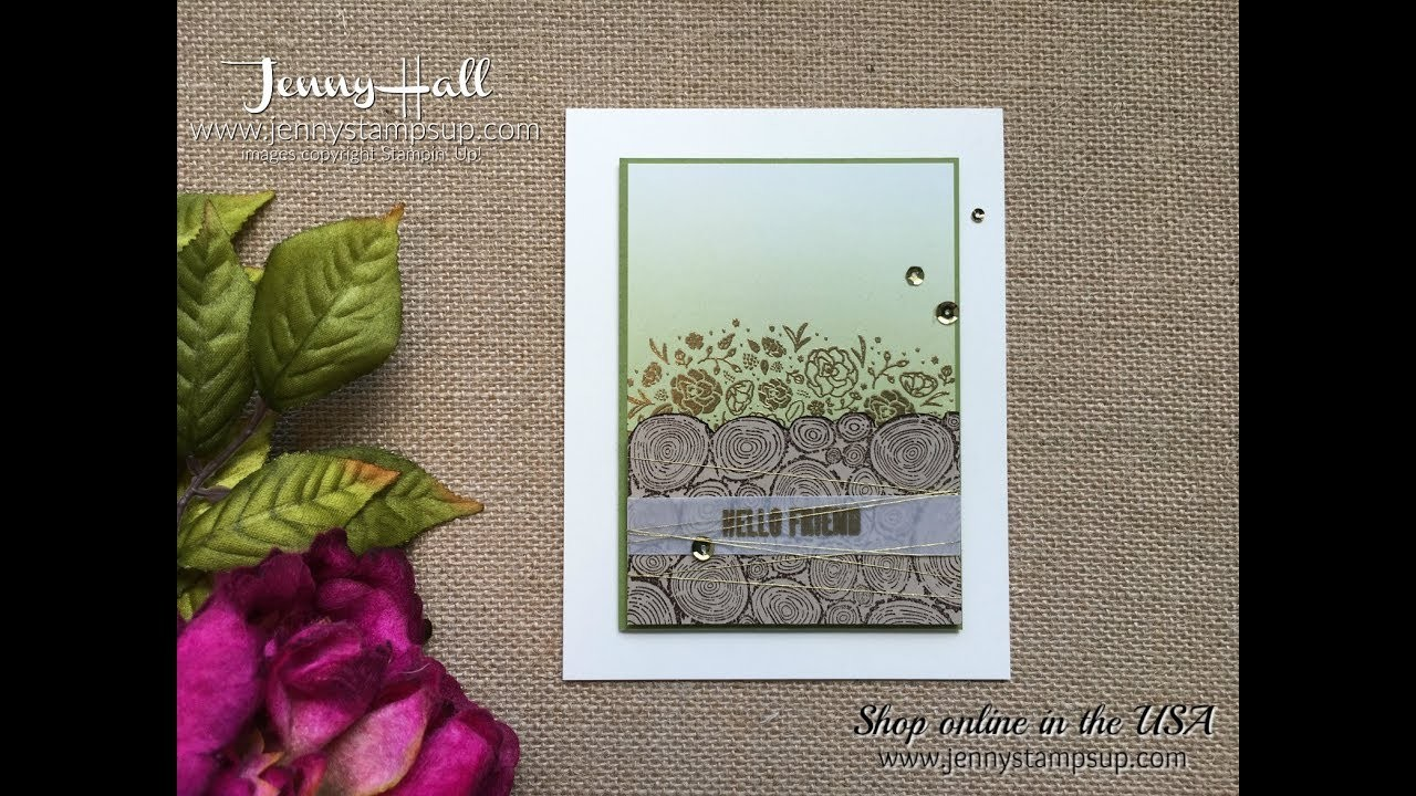 How to create a foreground with a background stamp using Stampin Up products with Jenny Hall