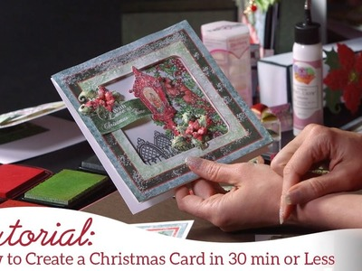 How to Create Christmas Cards in 30 Minutes or less -Festive Holly Collection