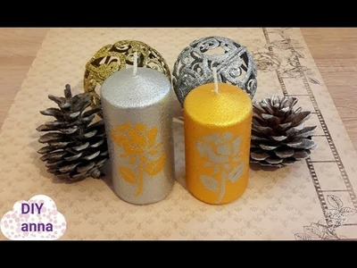 How to decorate candles with candle paint and stencils