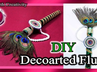 How to decorate Flute For Bal Gopal | Bansuri | Krishna Janmashtami | Art with Creativity 249